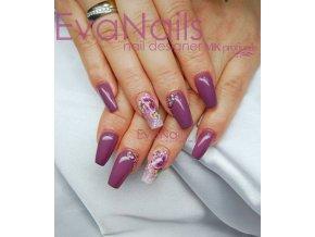 Perfect Line 11, bezvýpotkový barevný uv led gel, tmavá fialová