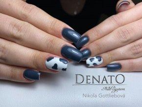 2095 Stale Gray, barevný UV LED gel, šedý