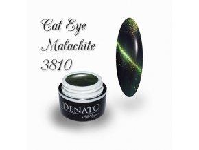 3810 CAT EYE malachit barevný uv led gel kouřový