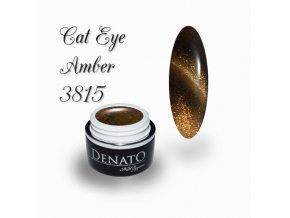 3815 CAT EYE amber barevný uv led gel hnědý
