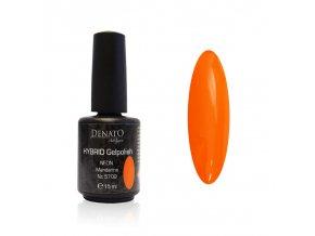 5709 Hybrid Gelpolish neon mandarin oranžový uv led gel, 15 ml