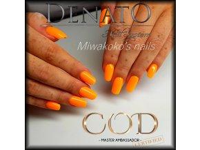 5710 Hybrid Gelpolish neon orange oranžový uv led gel, 15 ml