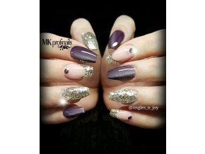 3804 CAT EYE mysterious lilla barevný uv led gel fialový