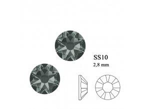 9293 Swarovski Black Diamond SS10