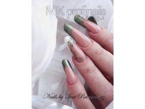 3103 Dusty Smaragd, perleťový barevný uv led gel zelený