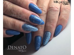 4304 PAULETTE barevný uv led gel glitrový modrý
