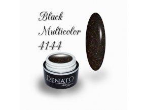 4144 Black Multicolour, barevný glitrový efektový barevný gel